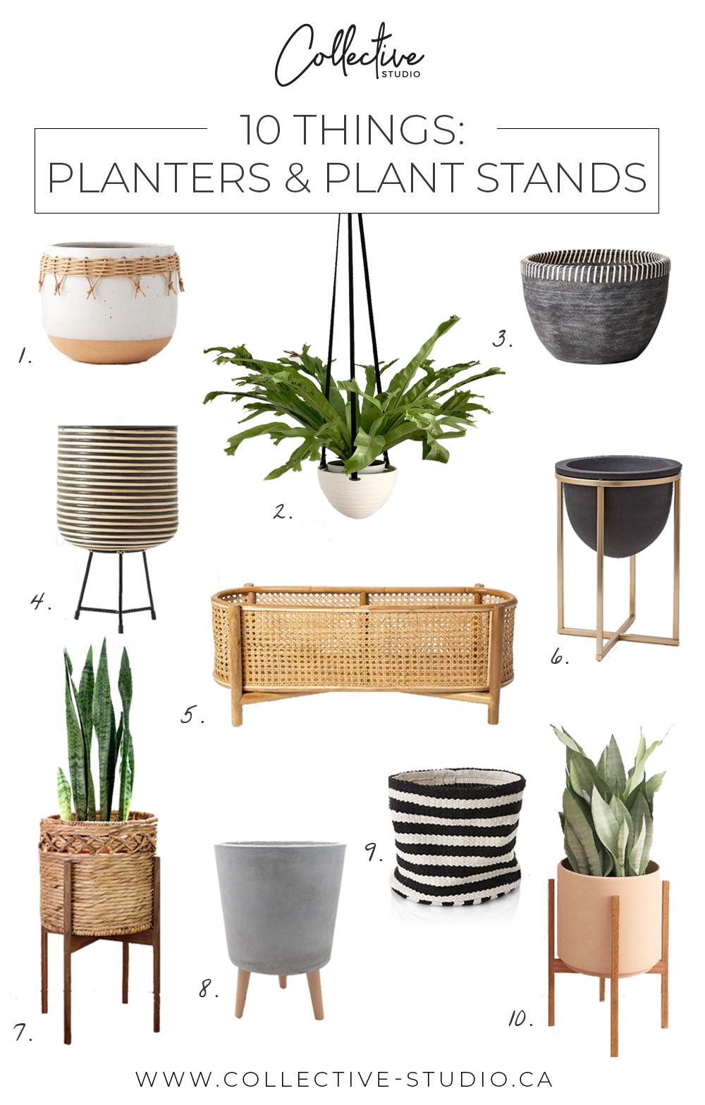 10 Things: Planters & Plant Stands